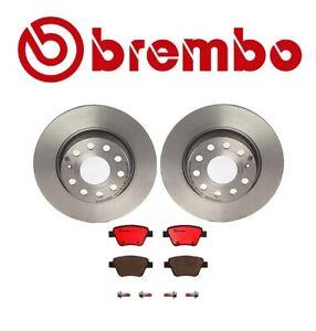 For Volkswagen Jetta Audi A3 Brembo Rear Brake Kit Disc Rotors and Ceramic Pads