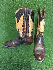 Vintage Brown Western Cowboy Boots Genuine Leather Size 43 UK 10 RH Brand