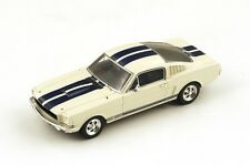 "Ford Mustang Shelby G.T. 350 ""Beige with Blue Stripes"" 1966 (Spark 1:43/ S2644)"