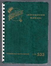 Instruction  Manual for the Tektronix 533 Oscilloscope