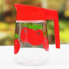 Broc / pichet vintage Henkel en verre décor pomme 1 litre