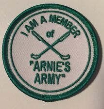 "Arnold Palmer, Arnie's Army Patch, 2.5"" Circle Golf Patch, PGA Tour Patch."