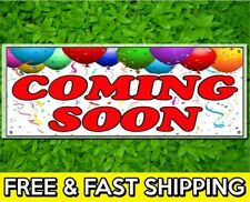 """72"""" Coming Soon Sign Banner 13oz Vinyl w/ Grommets Retail Store Offer"""