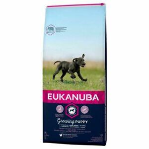 Eukanuba Growing Puppy Large Breed Chicken Dog Food 12kg *Damage To Bag 11.75kg*
