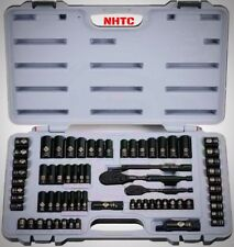Stanley Black Chrome and Laser Etched 69 Piece Socket Set With Storage Case New