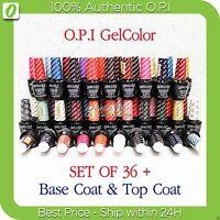 OPI GelColor Kit SET OF 36 + FREE BASE &TOP Soak Off Gel Nail Colour UV Led Lot