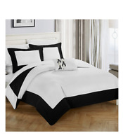 QUEEN SIZE CHIC HOME DESIGN WYNN TWO TONE REVERSIBLE 4 PIECE DUVET SET
