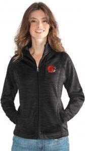 G-III 4her Cleveland Browns Women's Hand Off Full Zip Jacket - Charcoal