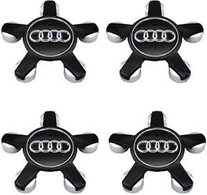 4pcs 135mm Audi Black Wheel Center Hub Caps  A4 A5 A8 S4 S5 4F0601165N