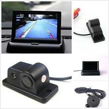 2in1 Car Reverse parking Radar Backup Night Vision Camera+4.3