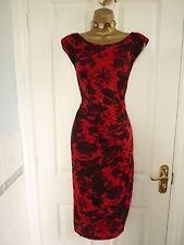 Donna Taglia 22 ROMAN ORIGINALS rosso e nero OCCASIONE estiva abito (nozze, feste)
