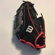 "Wilson Flash Series Black Pink Baseball Glove A04RF16115 Fastpitch 11.5"" RHT"