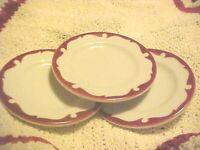 "lot of 3 Shenango China Restaurant Ware 4.5"" Bread plates Pre 1950"