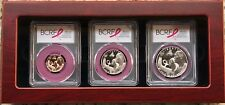 2018 BREAST CANCER GOLD SILVER CLAD PCGS PR70 FIRST DAY OF ISSUE 3-COIN SET