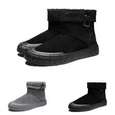 Mens Winter Snow Ankle Boots Shoes Fur Inside Warm Outdoor Walking Sports Chic D