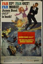 Auf Sie MAJESTY'S Geheimnis Service 1969 Original 40X60 Film Poster George