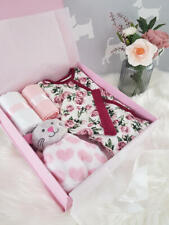 PERSONALISED 'ROSE' New Baby Girl Gift Hamper, Baby Shower Gift Box LARGE
