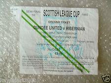 Tickets- Scottish League Cup Semi FINAL -1993 DUNDEE UNITED v HIBERNIAN, 21 Sept