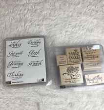 Stampin' Up! Lot Sincere Salutations Love Ya Bunches 13 Stamps Paper-craft