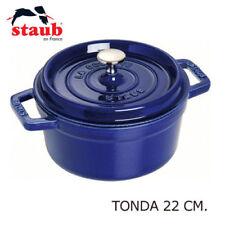 STAUB COCOTTE TONDA 22 CM PENTOLA GHISA CASSERUOLA INDUZIONE BLU