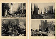 Terremoto San Fancisco stampa storica-fotografie di della distruzione v.1906