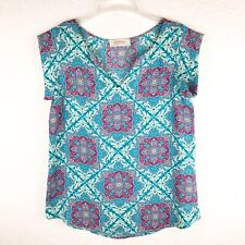 Renee C Stitch Fix Womens Shirt Top Cap Sleeves Sz Small