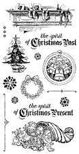 Graphic 45 A CHRISTMAS CAROL Stamp Set #2 Rubber Cling Mount Hampton Art ICO342