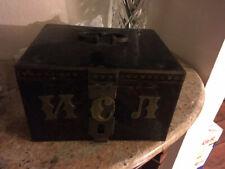 Antique Russian Polychrome Decorated Lyskovo Safe box Date 1909