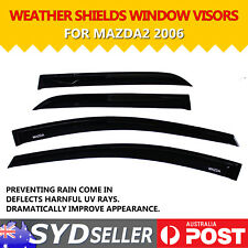 Car Weathershields Window Visors UV Sun Wind Deflector For Mazda 2 Hatch 2006