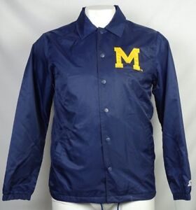 Michigan Wolverines NCAA Starter Men's Blue Snap Up Windbreaker