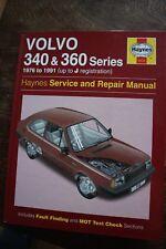 Haynes VOLVO 340 & 360 Series Manual 1976 - 1991 (up to J reg)  No. 0715
