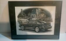 """Thom SanSoucie Signed Print Mustang Cobra Framed and Matted 18 1/2"""" x 14 1/4"""""""
