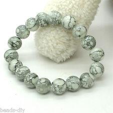 BD  1PC Off-white Imitate Jade Agate Bracelet 20cm