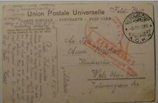 Germany Feldpost Aok 4.Palestine,Austrian Haubitzbatterie No.2,Censor,Wien
