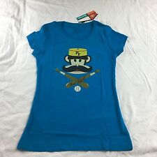New Women's Paul Frank T-shirt, Blue Size Medium Or small