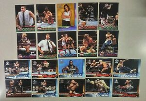 20 Different Awesome Wrestling Cards Fleer WWF Raw is War Gold Signature Series!