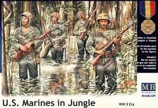MB MasterBox - U.S. Marines in jungle Urwald/Regenwald - 1:35 Modell-Bausatz