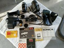 Konica Autoflex T3 Camera with accessories, carry bag, manuals and zoom lens