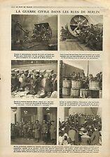 Civil War Berlin Mitrailleuse Machine Gun Brandenburger Tor Spartakiste 1919 WWI