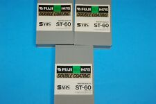 3 S-VHS ST-60 Fuji H471S Super VHS Tapes.  Single Pass S-VHS tapes Exc Cond