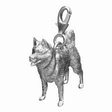 Husky Sterling Silver Dog Charm