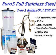 Euro5 Full Stainless Steel 2-in-1 Reflux/Pot Still Distillery Kit Burbon Whisky