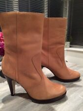 Carvela New Distressed Toffee Colour Mid Boots Size 40 (7)