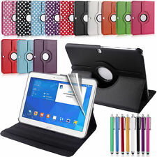 360 ROTATING SMART LEATHER CASE COVER FOR SAMSUNG GALAXY TAB 4 10.1 inch SM-T530
