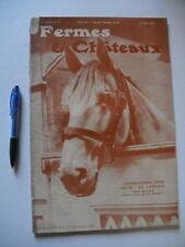 """""""Fermes & Chateaux"""" Publ mensuelle ill. août 1912 e.a. le berger allemand"""