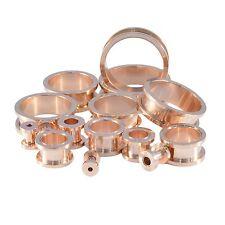 Rose Gold Ear Tunnel Screw-On Metal Ear Flesh Tunel - 3mm - 30mm