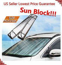 Auto Car Sun Shade Foldable Sun Visor for Front Windshield of Mini-Van SUV LARGE