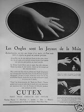 PUBLICITÉ 1931 BRILLANT CUTEX LES ONGLES JOYAUX DE LA MAIN - ADVERTISING