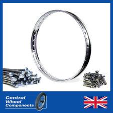 """19"""" Stainless Wheel Rim & Spoke Set / Kit BSA C12 - 6 Full Width Rear"""