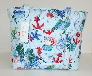 Vera Bradley SMALL VERA TOTE in ANCHORS AWEIGH Zip Top Shoulder Bag
